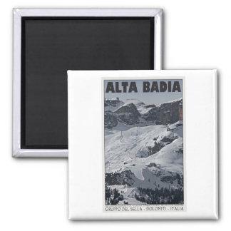 Sella Ronda - Alta Badia Run 20 2 Inch Square Magnet