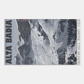 Sella Ronda - Alta Badia Run 20 Rectangular Sticker