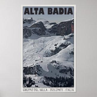 Sella Ronda - funcionamiento 20 de Alta Badia Póster