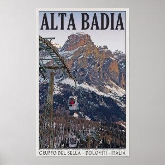 Sella Ronda - góndola de Alta Badia Póster