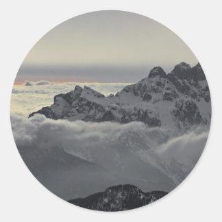 Sella Ronda - Monte Civetta Panorama Classic Round Sticker