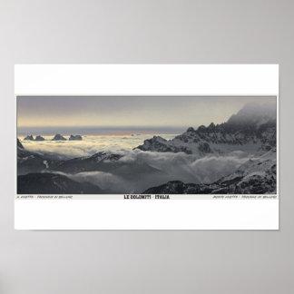 Sella Ronda - Monte Civetta Panorama Poster