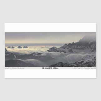 Sella Ronda - Monte Civetta Panorama Rectangular Sticker