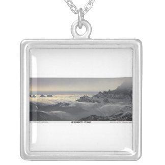 Sella Ronda - Monte Civetta Panorama Square Pendant Necklace