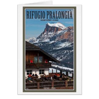 Sella Ronda - Rifugio Pralongia Greeting Card