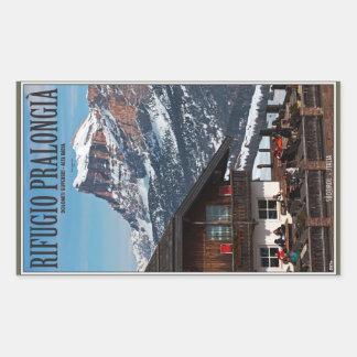 Sella Ronda - Rifugio Pralongia Rectangular Sticker