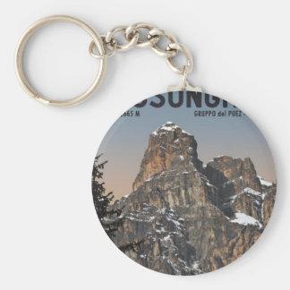 Sella Ronda - Sassongher Basic Round Button Keychain