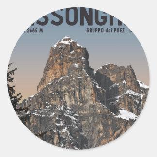 Sella Ronda - Sassongher Classic Round Sticker