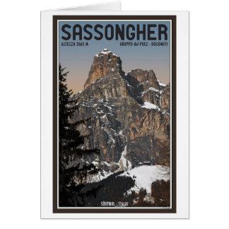 Sella Ronda - Sassongher Greeting Card