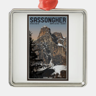 Sella Ronda - Sassongher Christmas Tree Ornaments