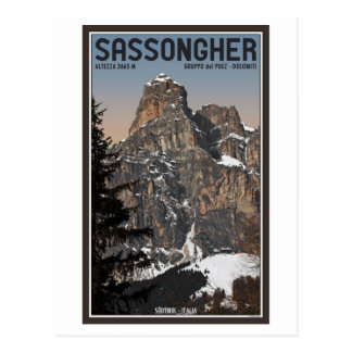 Sella Ronda - Sassongher Postcard