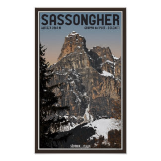 Sella Ronda - Sassongher Posters