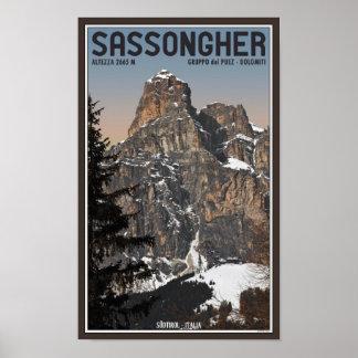Sella Ronda - Sassongher Poster