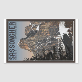 Sella Ronda - Sassongher Rectangular Sticker