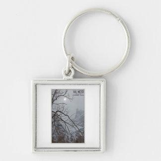 Sella Ronda - Val Mezdi Silver-Colored Square Keychain