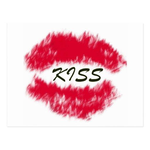 Sellado con un beso postales