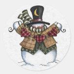 Sellador del sobre del navidad pegatina