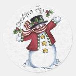 Sellador del sobre del navidad pegatina redonda