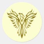 Selladores de levantamiento de oro del sobre de pegatina redonda