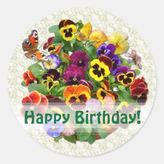 Selladores/pegatinas del sobre del cumpleaños del pegatina redonda