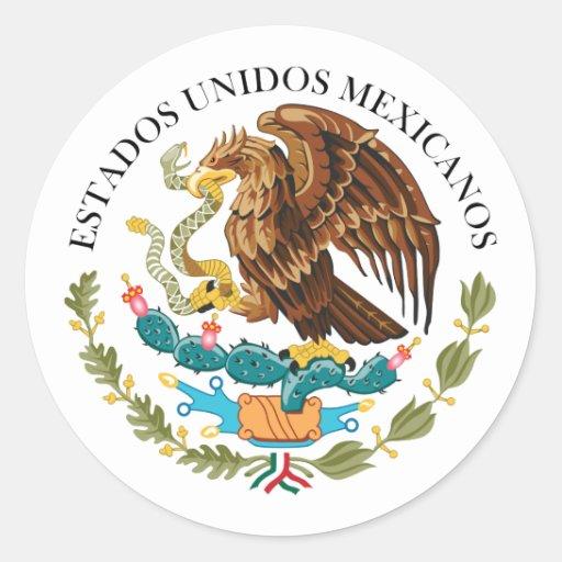 Selle al gobierno México, México Pegatina Redonda