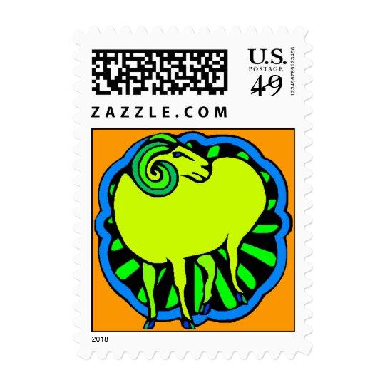 Selle el año chino de las ovejas del espolón sellos