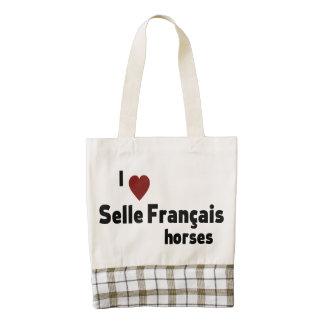 Selle Francais horses Zazzle HEART Tote Bag