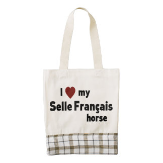 Selle Francais Zazzle HEART Tote Bag