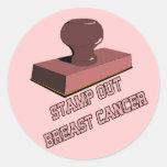 Selle hacia fuera al cáncer de pecho pegatina