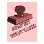 Selle hacia fuera al cáncer de pecho postales