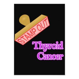 """Selle hacia fuera al cáncer de tiroides invitación 5"""" x 7"""""""