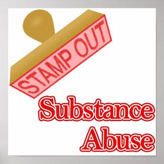 Selle hacia fuera el abuso de sustancia poster