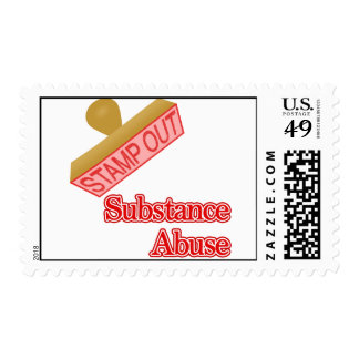 Selle hacia fuera el abuso de sustancia sello