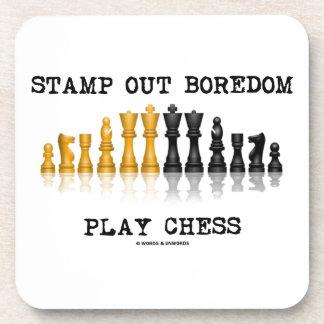 Selle hacia fuera el ajedrez del juego del aburrim posavasos
