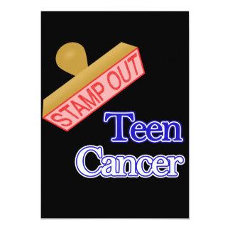 """Selle hacia fuera el cáncer adolescente invitación 5"""" x 7"""""""