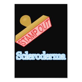 Selle hacia fuera el escleroderma invitación 12,7 x 17,8 cm