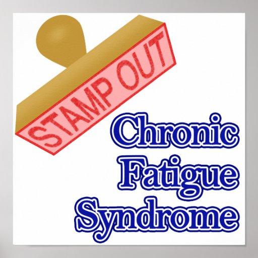 Selle hacia fuera el síndrome crónico del cansanci póster