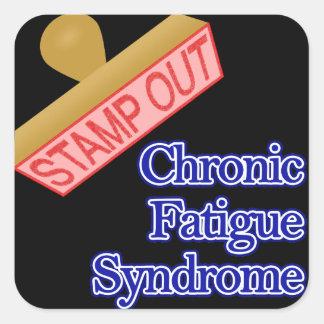 Selle hacia fuera el síndrome crónico del pegatina cuadrada