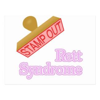 Selle hacia fuera el síndrome de Rett Postales