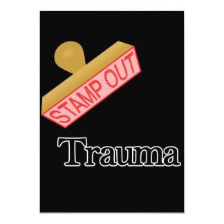 """Selle hacia fuera el trauma invitación 5"""" x 7"""""""
