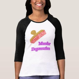 Selle hacia fuera la degeneración macular camiseta