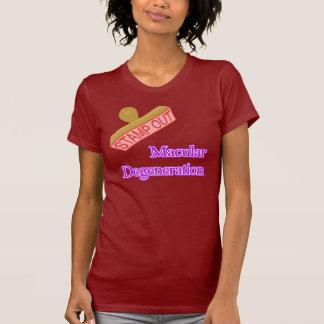 Selle hacia fuera la degeneración macular camisetas