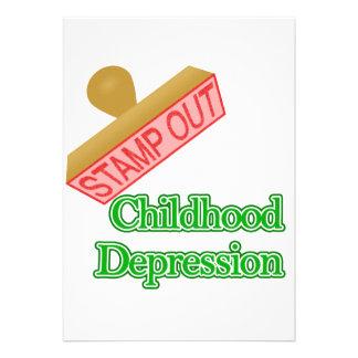 Selle hacia fuera la depresión de la niñez
