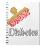 Selle hacia fuera la diabetes libretas espirales