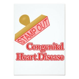 Selle hacia fuera la enfermedad cardíaca congénita invitación personalizada
