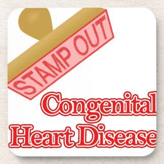 Selle hacia fuera la enfermedad cardíaca congénita posavasos de bebidas