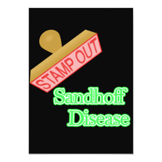 """Selle hacia fuera la enfermedad de Sandhoff Invitación 5"""" X 7"""""""