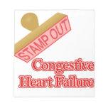 Selle hacia fuera la insuficiencia cardiaca conges blocs de notas