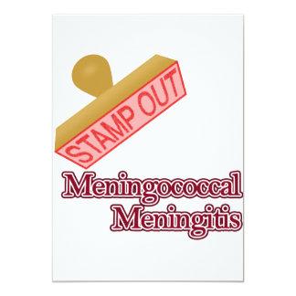 """Selle hacia fuera la meningitis meningocócica invitación 5"""" x 7"""""""