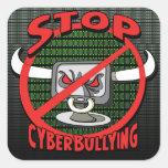 Selle hacia fuera la parada Cyberbullying Calcomanía Cuadradas Personalizadas